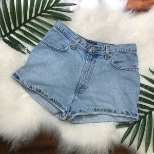 J. Crew vintage blue jean high rise mom shorts